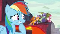 Rainbow Dash worried about Spike S7E25
