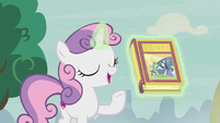 Sweetie Belle levitating book of fairy tales S7E8