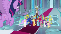 Twilight psyching up her comrades S9E24