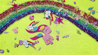 Young Pinkie blown by gust of cutie marks BFHHS4