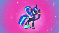 Princess Luna with an 80s-style look S9E13