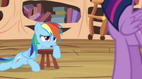 Rainbow suggests watching a movie on the Wonderbolts' history S4E21