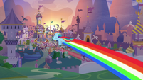 Rainbow zooms after the Wonderbolts S9E26