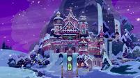 Snowy School of Friendship at nighttime BGES3