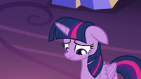 Twilight Sparkle lowers her head in shame S7E1