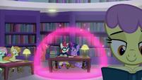 Twilight and Moon Dancer inside a magic bubble S5E12