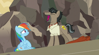 Caballeron laughs maniacally at Rainbow Dash S7E18