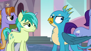 Gallus rolling his eyes at Sandbar S8E1.png
