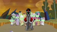 King Sombra and his hypnotized army S9E2