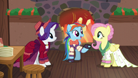 Merry, Snowdash, and Flutterholly talking together S6E8