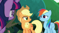 """Rainbow Dash embarrassed """"mostly"""" S8E9"""