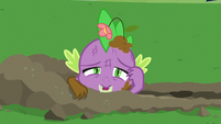 Spike emerging from the crater S8E24