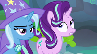 Starlight Glimmer rolling her eyes at Pharynx S7E17