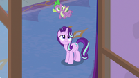 Starlight and Spike watch Discord leave S8E15