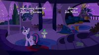 Twilight and Spike looks at the inside of their old home S5E12