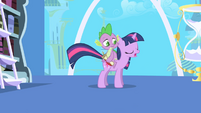 Twilight asks Spike to take a note S1E01