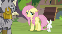 Angel sticks his tongue out at Fluttershy S9E18