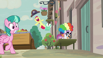 Apple Bloom leaping with joy S7E8