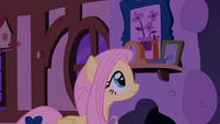 Fluttershy in the room where the fillies are going to sleep S1E17