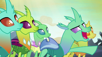"""Goofy changeling declares """"attack!"""" S7E1"""