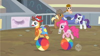 Pinkie Pie follows Caramel S2E14