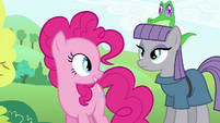 Pinkie Pie looking at Maud S4E18