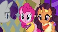 "Pinkie and Saffron answer ""two"" S6E12"