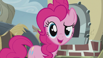 "Pinkie faces the fourth wall ""except it does!"" S5E8"