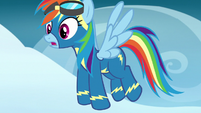 Rainbow looking afar at the Wonderbolts S7E7