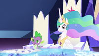 Spike confused by Twilight's logic S7E1