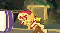 Sunset Shimmer sighing with defeat EGFF