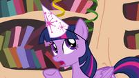 Twilight explaining to Rainbow Dash S4E04