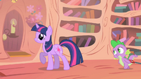 Twilight realizes that Spike wants to hear it again S1E24