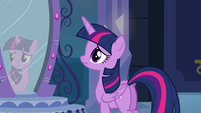Twilight standing in front of the mirror EG