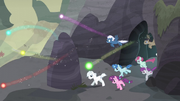 Village ponies gallop out of the cave S5E2.png