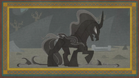 Illustration of Stygian becoming the Pony of Shadows S7E25