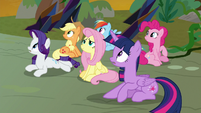 Mane Six look up to the sky S9E2