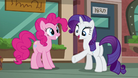"""Rarity """"Why not sight-see on a path that leads right to the pouch store?"""" S6E3"""