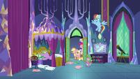 Rest of Mane Six entering Twilight's room S8E2