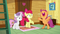Scootaloo yelling -Camp Friendship!- S7E21