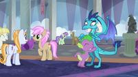 Spike hugging Princess Ember S8E1