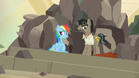 Dr. Caballeron whistles to his henchponies S7E18