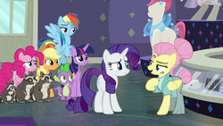 "Fluttershy ""I've taken care of your rodent situation"" S8E4.png"