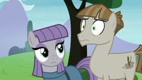 Mudbriar looking horrified at Pinkie Pie S8E3