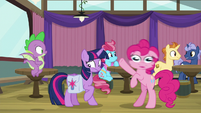Pinkie Pie shakes her head really fast S9E16