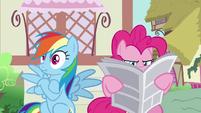 Rainbow Dash's eyes suddenly widen S7E18