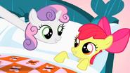 S01E17 Sweetie i Apple Bloom podczas piosenki