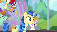 Unicorn student with butterfly wings S9E15