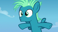 Young Sky Stinger surprised by himself S6E24