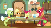 Apple family puzzled by Apple Bloom's words S5E4.png